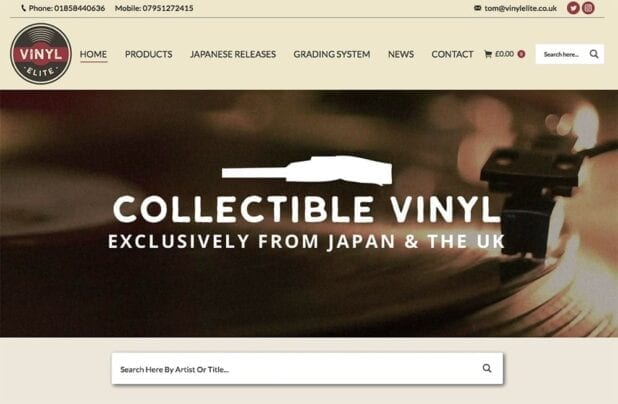 New site launched for Vinyl elite