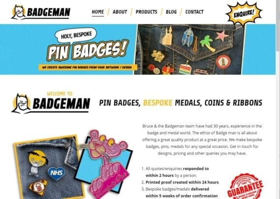 Brilliant New Client - #1 Bespoke pin badges- Badgeman