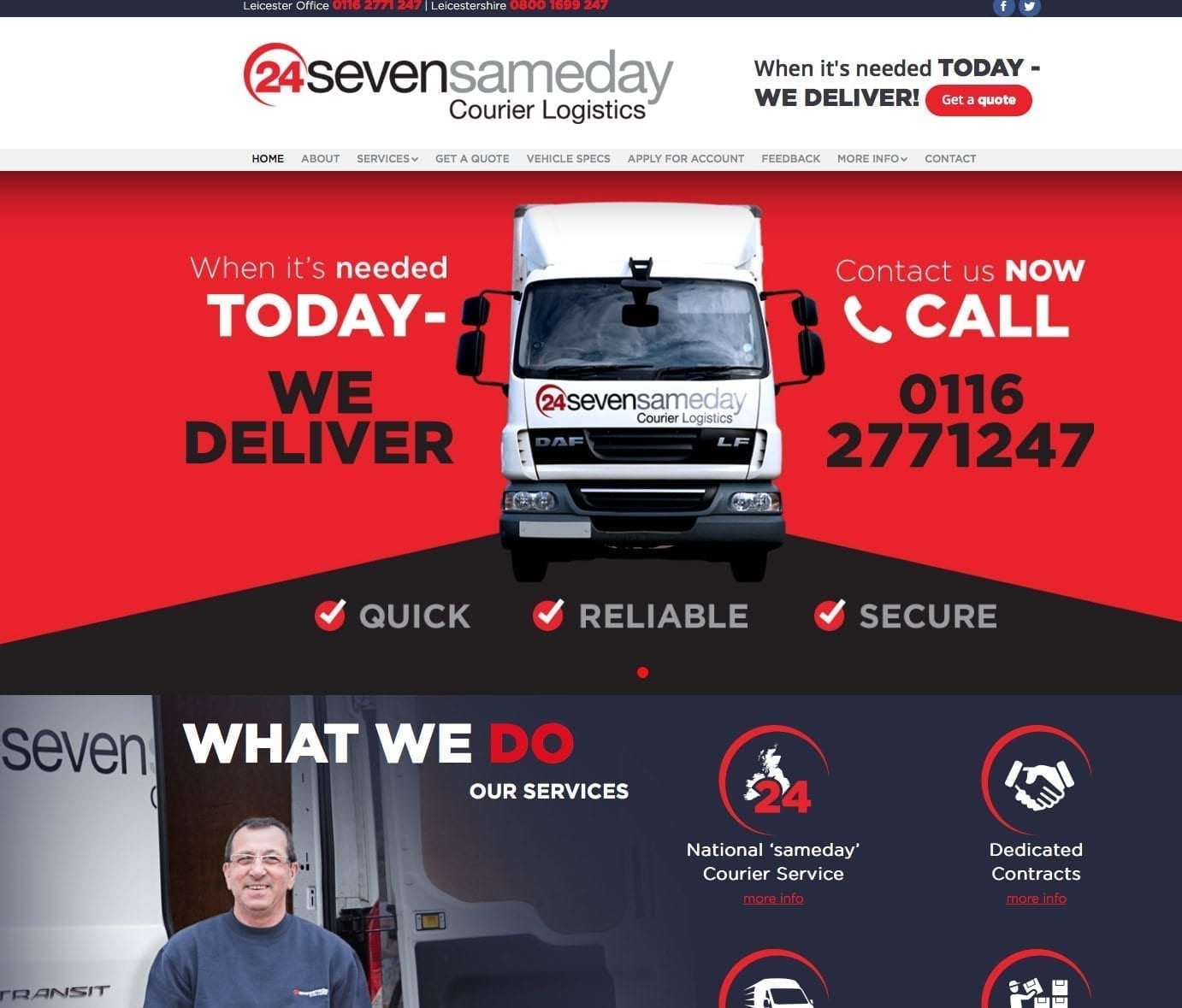 New site launched for 24seven sameday