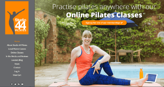 Online Pilates website